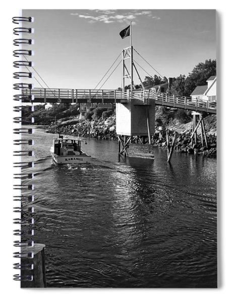 Heading To Sea - Perkins Cove - Maine Spiral Notebook