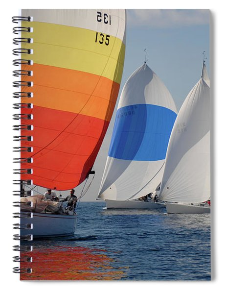 Heading Towind Windward Mark Spiral Notebook