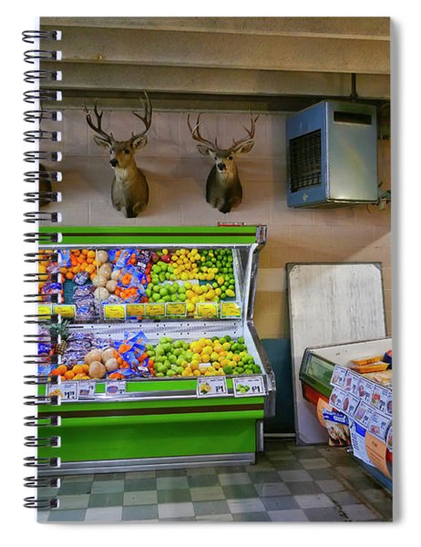 Spiral Notebook featuring the photograph Heads Of State by Skip Hunt