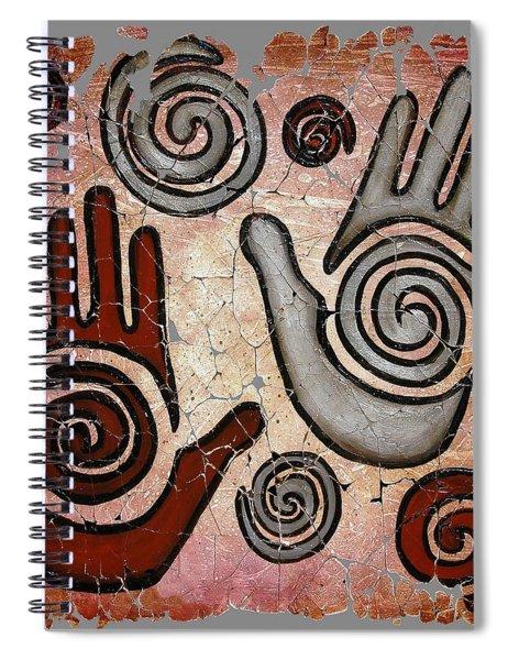 Healing Hands Fresco  Spiral Notebook
