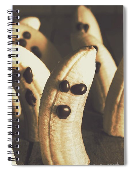 Healthy Rustic Trick-or-treat Halloween Snacks Spiral Notebook