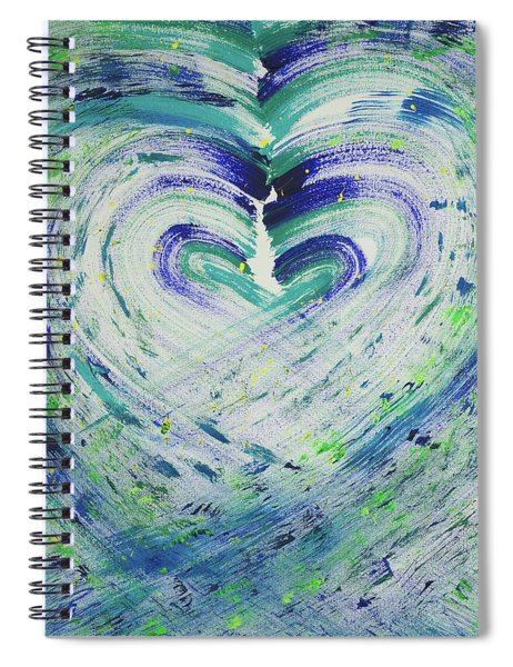 Heart Centered Peace And Love Spiral Notebook