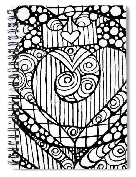 Heart Crown Tangle Spiral Notebook