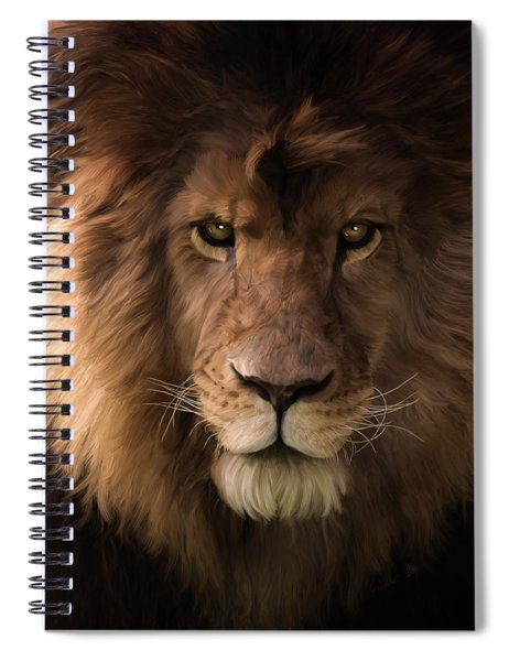 Heart Of A Lion - Wildlife Art Spiral Notebook