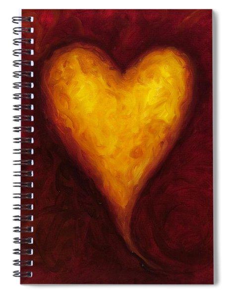 Heart Of Gold 1 Spiral Notebook