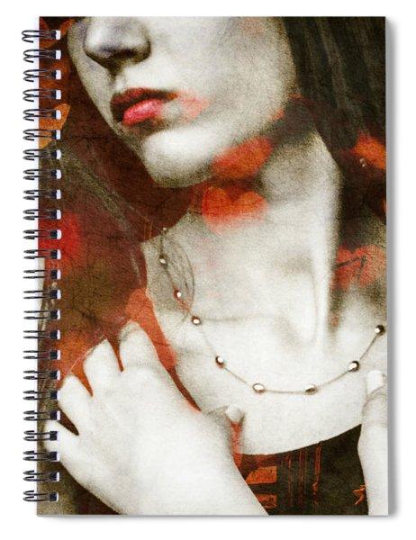 Heart Of Gold Spiral Notebook