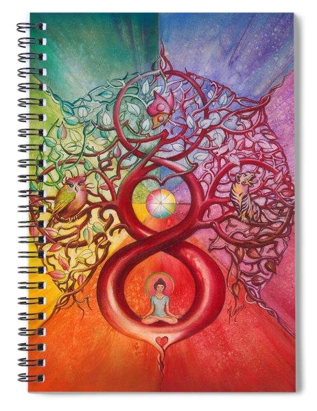 Heart Of Infinity Spiral Notebook