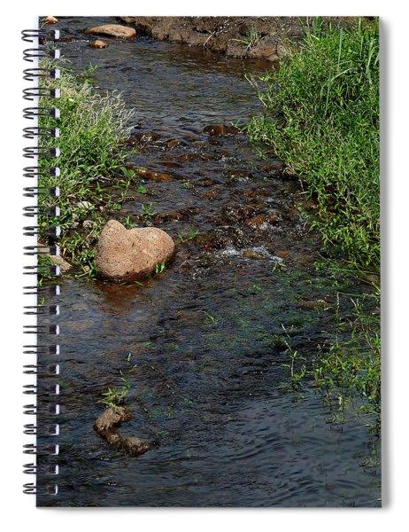 Heart Of The Stream Spiral Notebook
