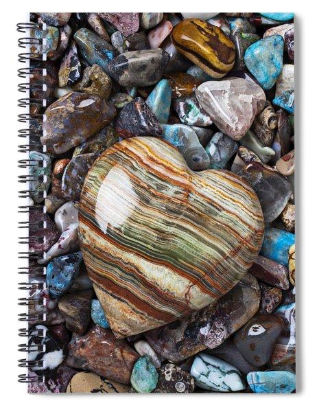 Heart Stone Spiral Notebook