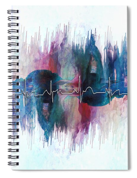 Heartbeat Drama Spiral Notebook