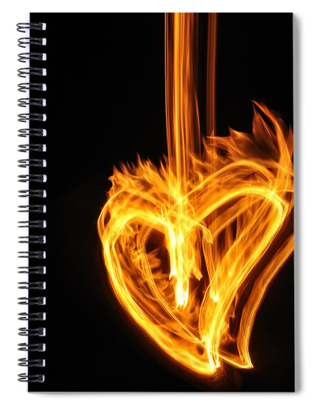 Hearts Aflame -falling In Love Spiral Notebook