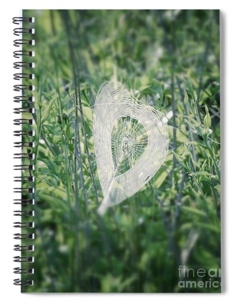 Hearts In Nature - Heart Shaped Web Spiral Notebook
