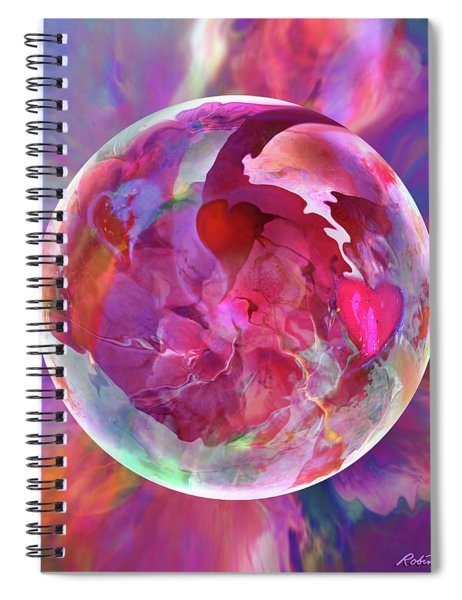 Hearts Of Space Spiral Notebook