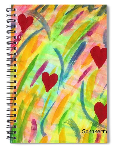 heARTs of Spring Spiral Notebook