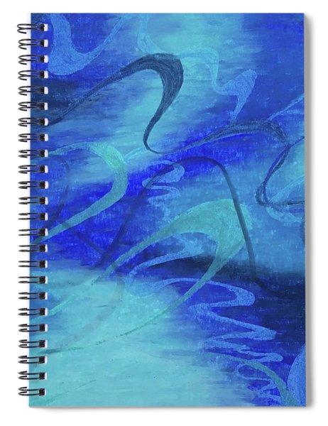 Heartsong Blue 1 Spiral Notebook