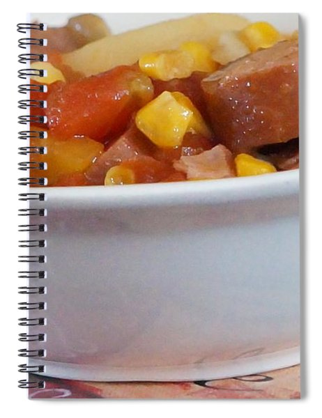 Hearty Ham, Smoked Sausage And Vegetable Soup Spiral Notebook