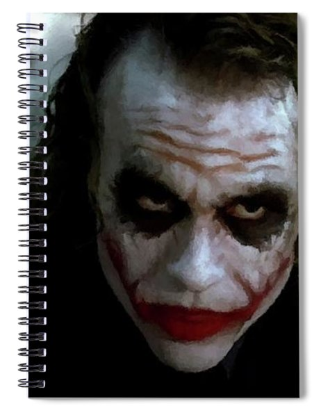 Heath Ledger Joker Why So Serious Spiral Notebook
