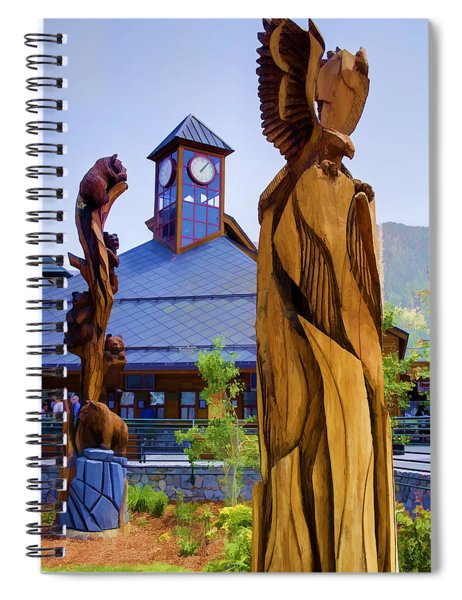 Heavenly Carvings Spiral Notebook