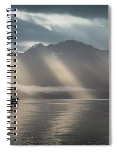 Heavenly Light Spiral Notebook
