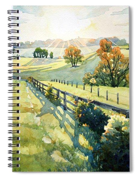 Heavenly Light Spiral Notebook