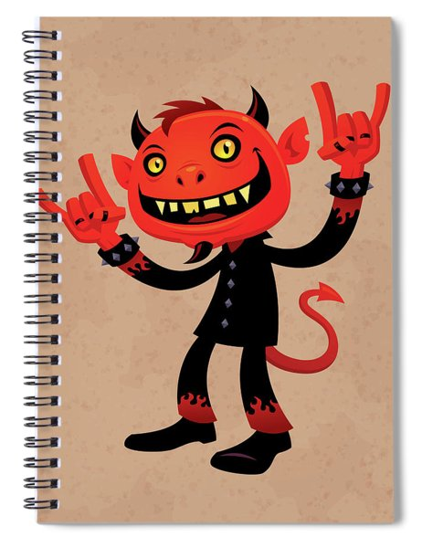 Heavy Metal Devil Spiral Notebook