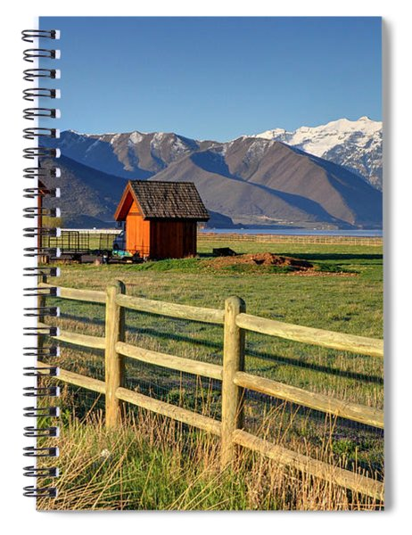Heber Valley Ranch House - Wasatch Mountains Spiral Notebook
