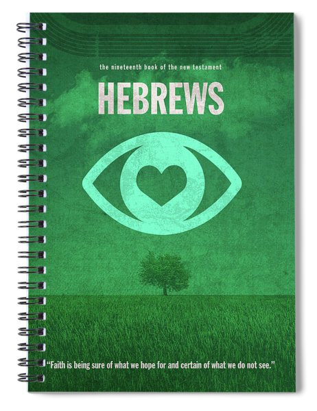 Hebrews Books Of The Bible Series New Testament Minimal Poster Art Number 19 Spiral Notebook