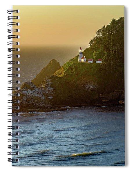 Heceta Head Lighthouse At Sunset Spiral Notebook