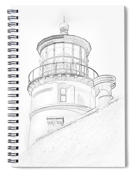 Hecitia Head Lighthouse Sketch Spiral Notebook