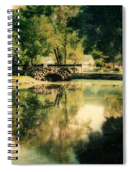 Heckscher Park Pond, Huntington Ny Spiral Notebook