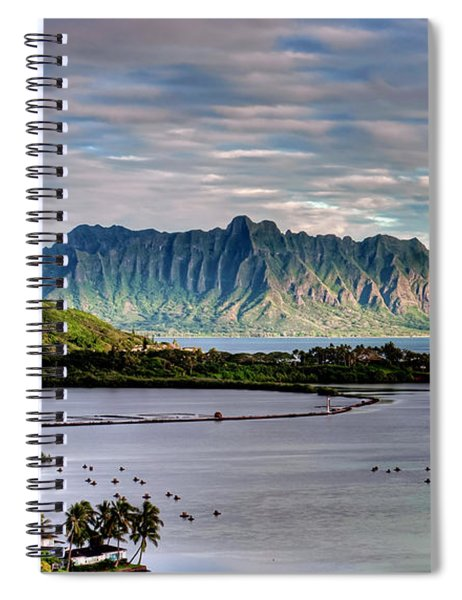 He'eia Fish Pond And Kualoa Spiral Notebook