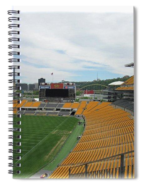 Heinz Stadium With Pittsburgh Skyline Spiral Notebook