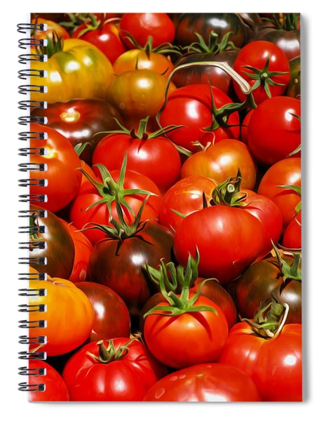 Heirloom Tomatoes Summer  2016 Spiral Notebook