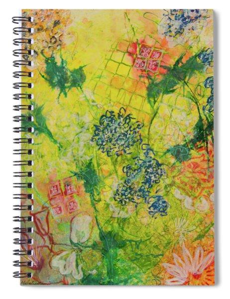 Hello Yellow Spiral Notebook