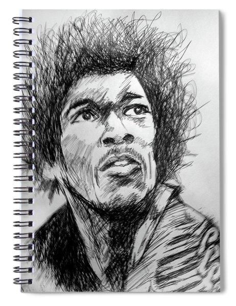Hendrix Pen Drawing  Spiral Notebook