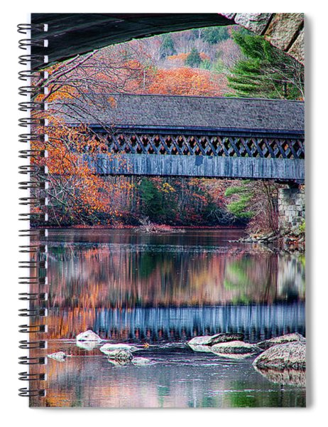 Henniker Covered Bridge Late Autumn Spiral Notebook