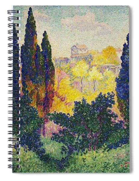 Henri Edmond Cross French Les Cypres A Cagnes Spiral Notebook