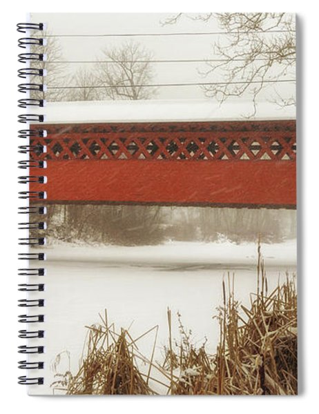 Henry Covered Bridge In Winter Spiral Notebook