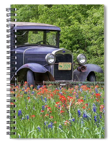 Henry The Vintage Model T Ford Automobile Spiral Notebook by Robert Bellomy