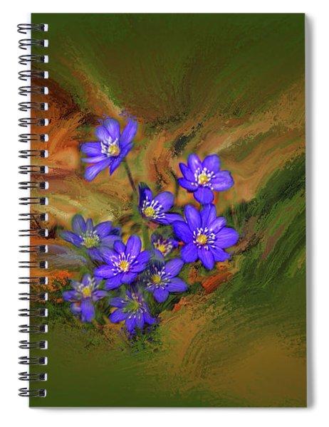 Hepatica Nobilis Painterly #h4 Spiral Notebook