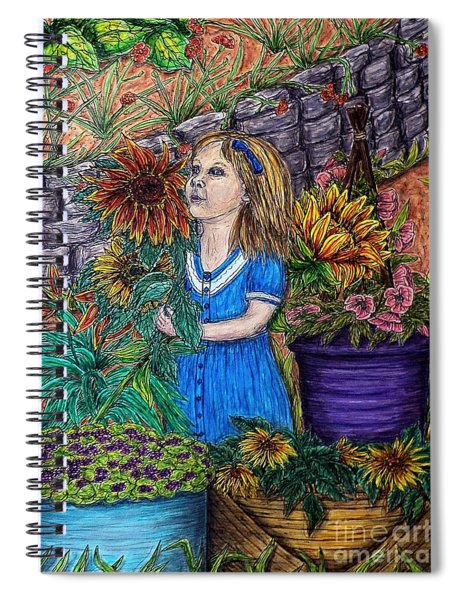 Her First Garden Spiral Notebook