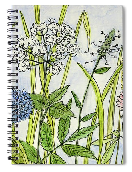 Herbs And Flowers Spiral Notebook