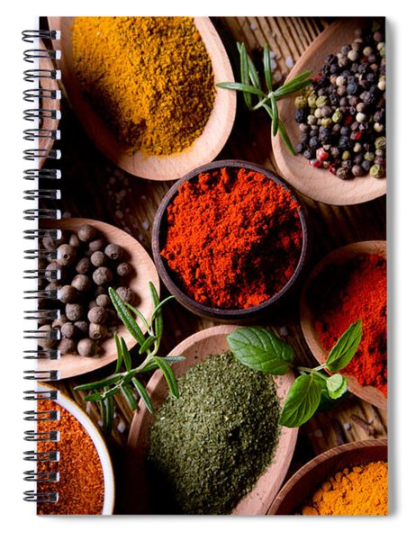Herbs And Spices Spiral Notebook