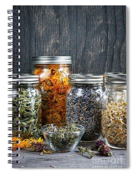 Herbs In Jars Spiral Notebook