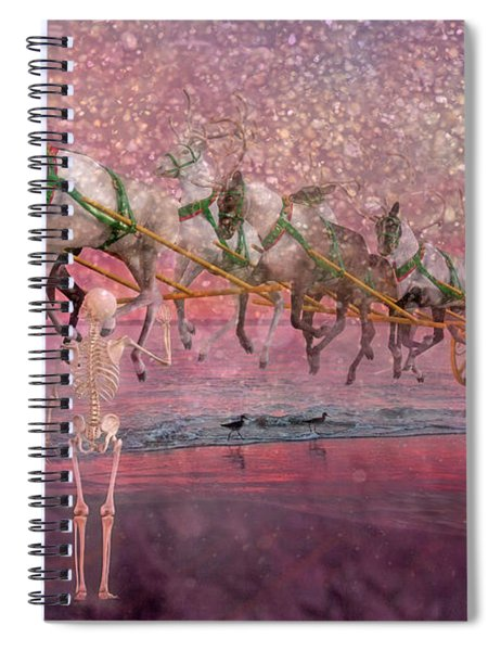Here Comes Santa Claus Spiral Notebook