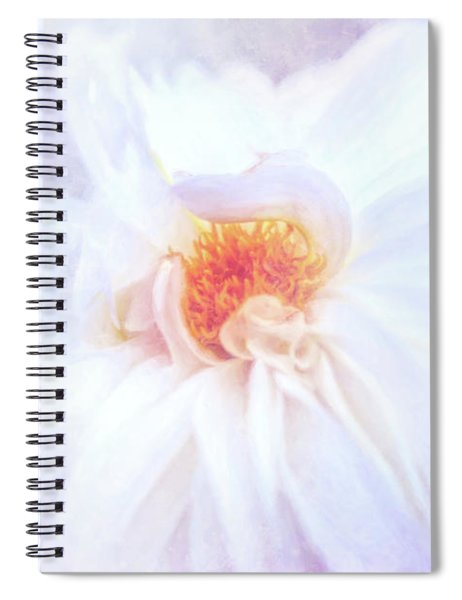 Here Comes The Bride - A Beautiful White Dahlia Spiral Notebook