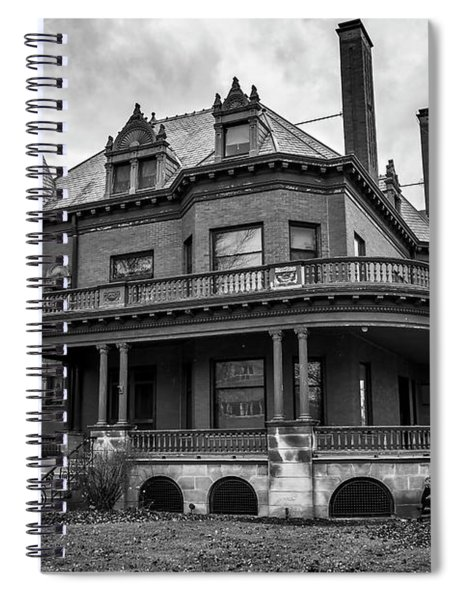 Heritage Hill Mansion In Black And White Spiral Notebook