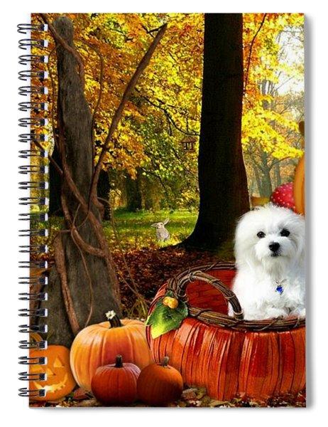 Hermes And Pumpkins Spiral Notebook