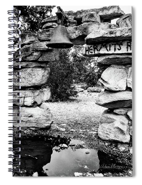 Hermit's Rest, Black And White Spiral Notebook