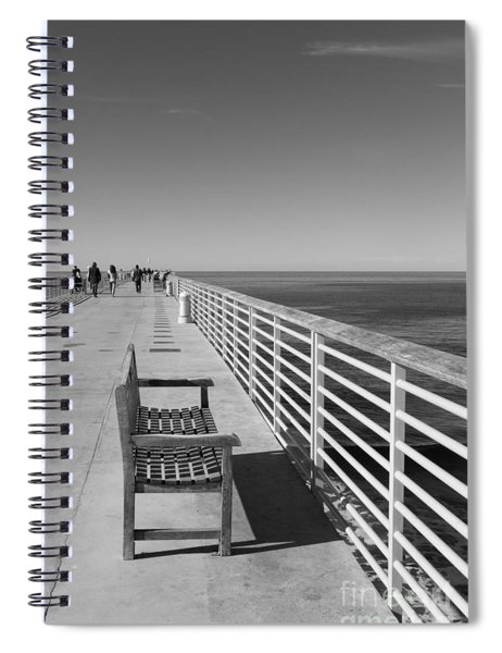 Hermosa Beach Seat Spiral Notebook